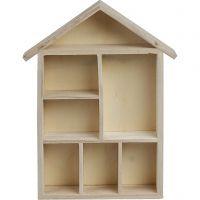 Maison étagère, dim. 30x21x3,5 cm, 1 pièce