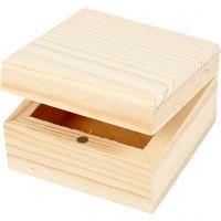 Boîte à bijoux, dim. 6x6x3,5 cm, 2 pièce/ 1 Pq.