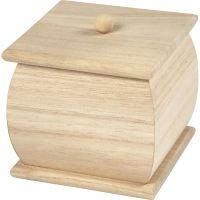 Mini-boîtes avec couvercle, dim. 7,5x7,5x8 cm, 1 pièce