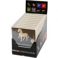 Kit de construction 3D en bois, H: 6-23 cm, 64 pièce/ 1 Pq.