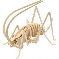 Kit de construction 3D en bois, Cricket, dim. 22,5x15x18 cm, 1 pièce