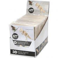 Kit de construction 3D en bois avec application mobile, H: 11,5-22 cm, 48 pièce/ 1 Pq.