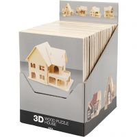 Kit de construction 3D en bois, 24 pièce/ 1 Pq.