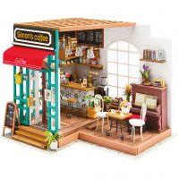 Pièce miniature DIY, Café, H: 19 cm, L: 22,6 cm, L: 19,4 cm, 1 pièce