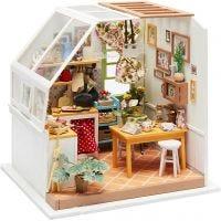 Pièce miniature DIY, Cuisine, H: 18,7 cm, L: 19 cm, 1 pièce