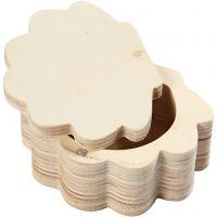 Boîte en bois, H: 4 cm, L: 8 cm, 1 pièce