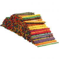Bâtons avec trous, L: 11,4 cm, L: 10 mm, couleurs assorties, 1000 pièce/ 1 Pq.