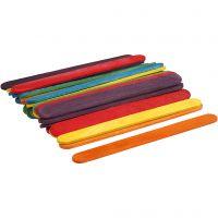Bâtonnets de glace, L: 11,4 cm, L: 10 mm, couleurs assorties, 30 pièce/ 1 Pq.