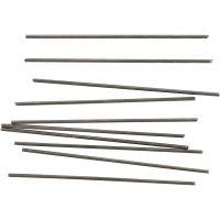 Tiges en métal, L: 10 cm, d: 2 mm, 10 pièce/ 1 Pq.