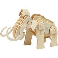 Figurine à assembler en 3D, mammouth, dim. 19x8,5x11 cm, 1 pièce