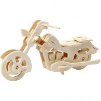 Figurine à assembler en 3D, moto, dim. 19x9x9 cm, 1 pièce