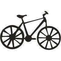 Étquette en carton, vélo, dim. 77x48 mm, noir, 10 pièce/ 1 Pq.