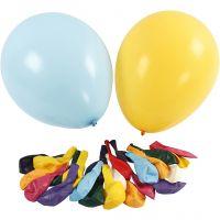 Ballons, d: 43 cm, couleurs assorties, 50 pièce/ 1 Pq.