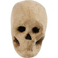 Masque tête de mort, H: 10 cm, 1 pièce