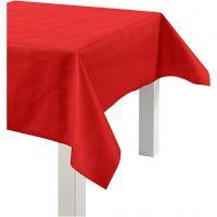 Nappe de table ou immitation tissu, L: 125 cm, 70 gr, rouge, 10 m/ 1 rouleau
