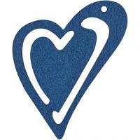 Coeur, dim. 55x45 mm, bleu foncé, 10 pièce/ 1 Pq.