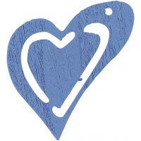 Coeur, dim. 25x22 mm, bleu clair, 20 pièce/ 1 Pq.