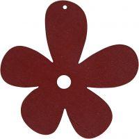 Fleur, dim. 57x51 mm, rouge vin, 10 pièce/ 1 Pq.