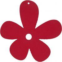 Fleur, dim. 57x51 mm, rose foncé, 10 pièce/ 1 Pq.