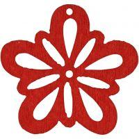 Fleur, d: 27 mm, rouge, 20 pièce/ 1 Pq.