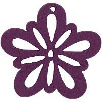 Fleur, d: 27 mm, violet foncé, 20 pièce/ 1 Pq.