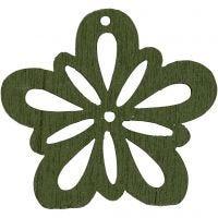Fleur, d: 27 mm, vert foncé, 20 pièce/ 1 Pq.