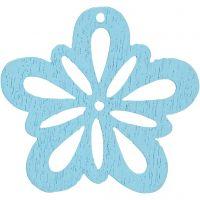 Fleur, d: 27 mm, turquoise clair, 20 pièce/ 1 Pq.