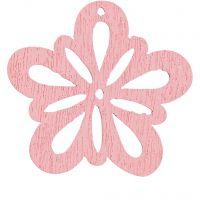 Fleur, d: 27 mm, rose, 20 pièce/ 1 Pq.