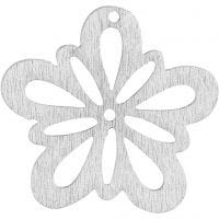 Fleur, d: 27 mm, blanc cassé, 20 pièce/ 1 Pq.