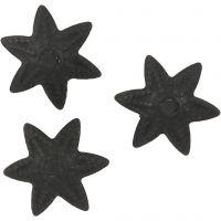 Calottes pour perles, d: 10 mm, noir, 10 pièce/ 1 Pq.
