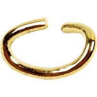 Anneaux ovales, ép. 0,7 mm, doré, 50 pièce/ 1 Pq.