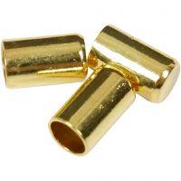 Embouts, d: 2,5 mm, doré, 50 pièce/ 1 Pq.
