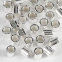 Perles à écraser, d: 2 mm, argenté, 50 pièce/ 1 Pq.