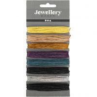 Ficelle de coton, ép. 1 mm, couleurs assorties, 8x5 m/ 1 Pq.
