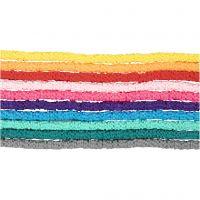 Perles en terre cuite, d: 5-6 mm, diamètre intérieur 2 mm, couleurs assorties, 10x145 pièce/ 1 Pq.