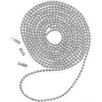 Chaîne de perles, d: 1,5 mm, argenté, 1 m