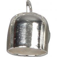 Embouts, L: 11 mm, d: 8 mm, argenté, 6 pièce/ 1 Pq.