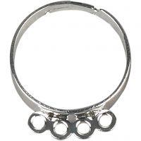 Bagues avec anneaux, argenté, 15 pièce/ 1 Pq.