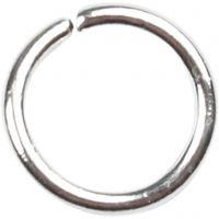 Boucles rondes , dim. 5,4 mm, ép. 0,7 mm, argenté, 500 pièce/ 1 Pq.