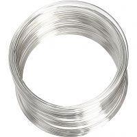Bracelet spirale, d: 6 cm, ép. 0,8 mm, argenté, 1 pièce