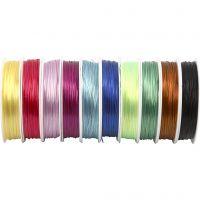 Fil élastique, ép. 1 mm, couleurs assorties, 10x25 m/ 1 Pq.