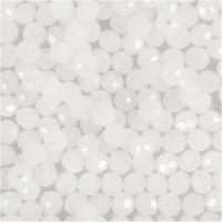 Perles à facettes, dim. 3x4 mm, diamètre intérieur 0,8 mm, mat, 100 pièce/ 1 Pq.