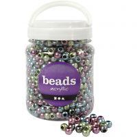 Perles Pony, d: 10 mm, diamètre intérieur 4 mm, 700 ml/ 1 boîte, 380 gr