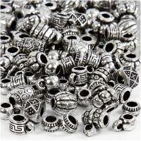 Perles antiques, dim. 7-11 mm, diamètre intérieur 3 mm, 25 gr/ 1 Pq.