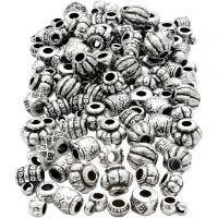 Perles antiques, dim. 7-11 mm, diamètre intérieur 3 mm, 200 gr/ 1 Pq.