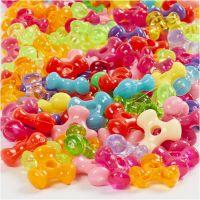 Mélange de perles, d: 10 mm, diamètre intérieur 2 mm, 125 ml/ 1 Pq., 65 gr