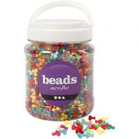 Mélange de perles, d: 10 mm, diamètre intérieur 2 mm, couleurs assorties, 700 ml/ 1 boîte, 385 gr