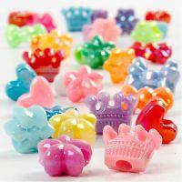 Perles plastique Novelty, d: 10 mm, diamètre intérieur 3 mm, 125 ml/ 1 Pq., 65 gr