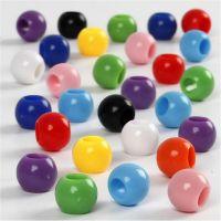 Perles Pony, d: 8 mm, diamètre intérieur 4 mm, 125 ml/ 1 Pq., 70 gr