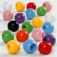 Perles Pony, d: 10 mm, diamètre intérieur 4,5 mm, 110 ml/ 1 Pq., 65 gr